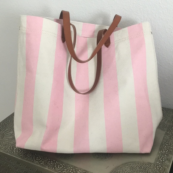1c75f707bb2a4 Madewell Handbags - Madewell Striped Canvas Tote